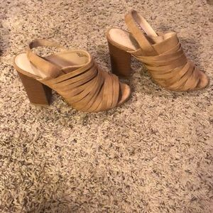 Coconuts chunky heel with strap